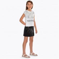 Комбо-платье с блестками для девочки майорал